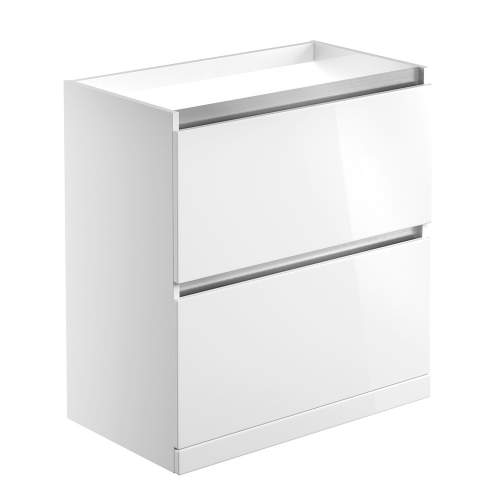 Bluci Carino 815mm 2 Drawer Floor Standing Bathroom Basin Unit with No Top