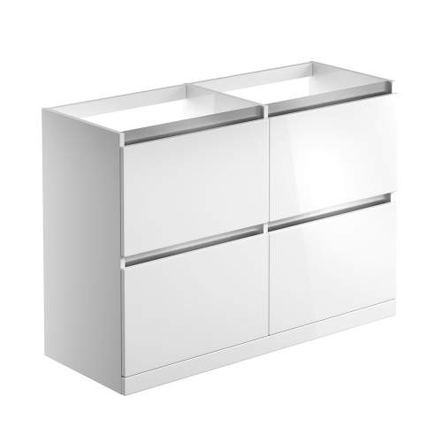 Bluci Carino 1200mm 2 Drawer Floor Standing Bathroom Basin Unit with No Top