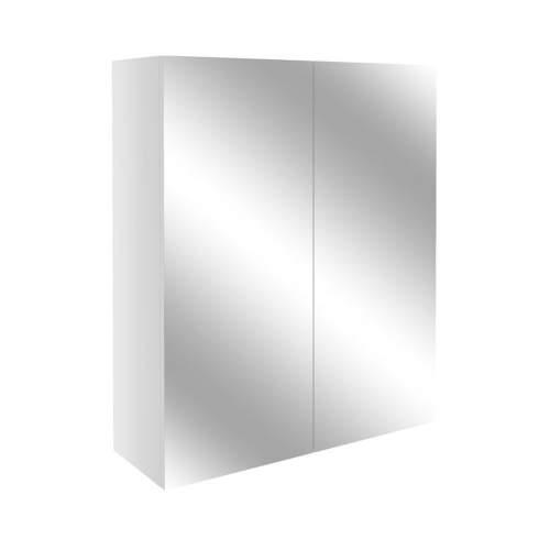 Bluci Alba 600mm 2 Door Mirrored Bathroom Unit