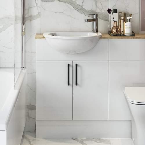 Bluci Alba 500mm Slim 2 Door Bathroom Basin Unit