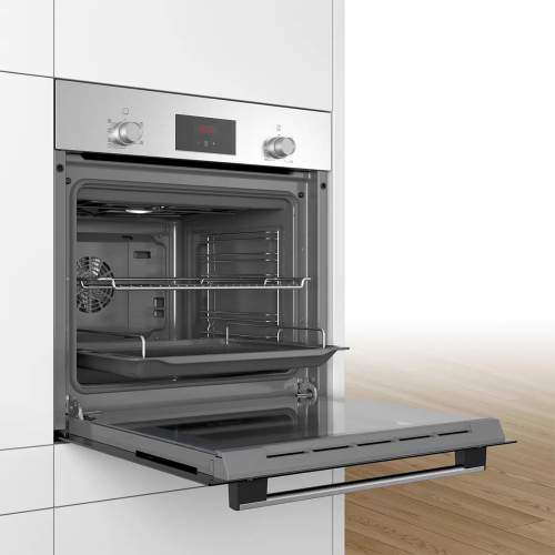 Bosch Serie 2 HBF1PUG6E2 Built In Electric Oven and Induction Hob Pack with FREE set of induction pans