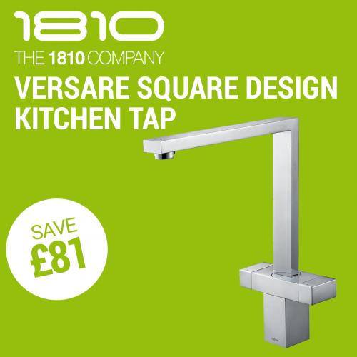 The 1810 Company Versare Square Design Kitchen Tap