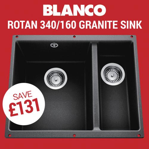 Blanco ROTAN 340/160-U Granite Kitchen Sink