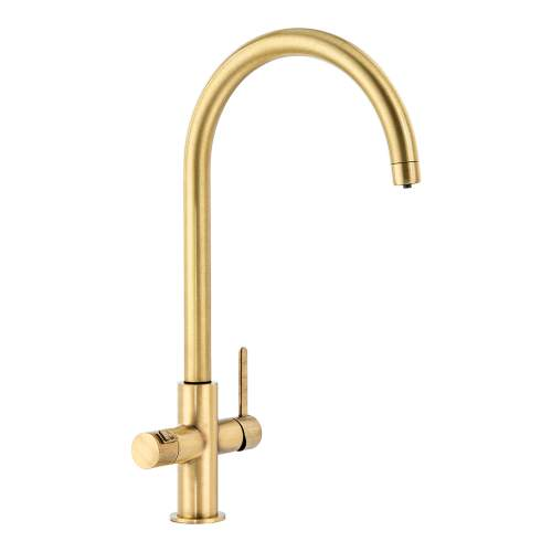 Abode Pronteau Prothia Swan 3 in 1 Kitchen Tap - PT1133 - Brushed Brass