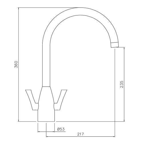 Abode Airo Stainless Steel Monobloc Kitchen Tap
