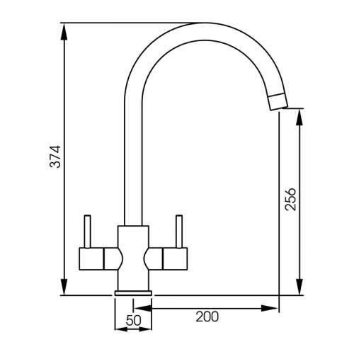 Abode Focal Stainless Steel Monobloc Kitchen Tap