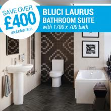 Bluci Laurus Bathroom Suite 1700 x 700 Bath