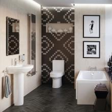 Bluci Laurus Bathroom Suite 1700 x 750 Bath