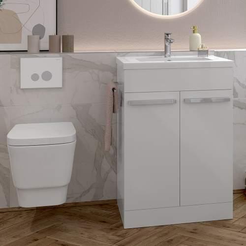 Bluci Morina White Gloss Furniture Set
