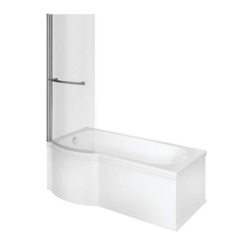 Bluci P Shape Shower Bath Bathroom Suite