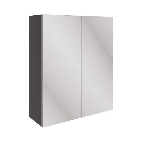 Bluci Valesso 600mm 2 Door Mirrored Bathroom Wall Unit