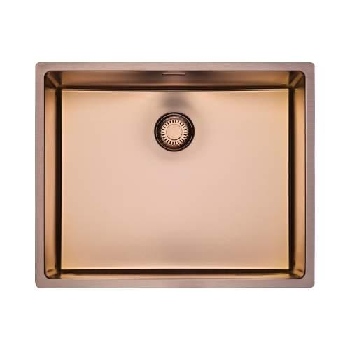 Reginox New York 50x40 Single Bowl Sink in Copper