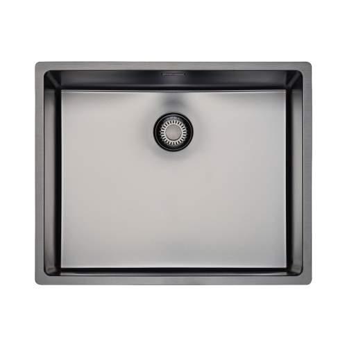Reginox New York 50x40 Single Bowl Sink in Gunmetal