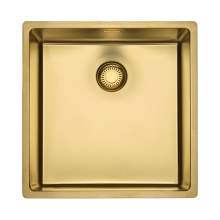 Reginox New York 40x40 Single Bowl Sink in Gold