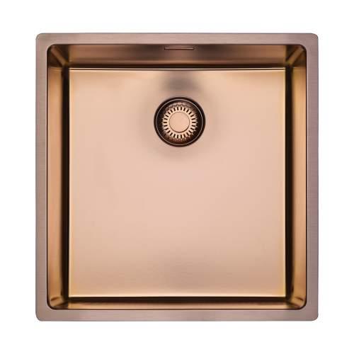 Reginox New York 40x40 Single Bowl Sink in Copper