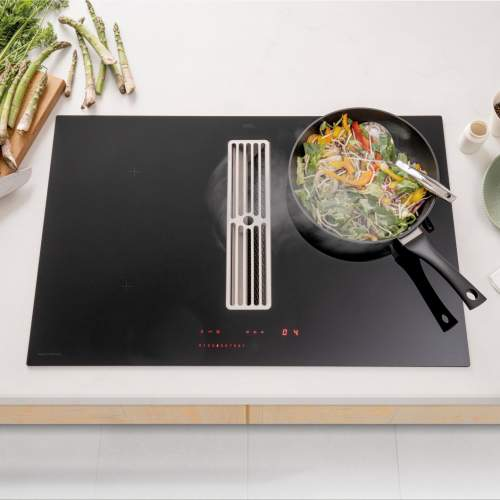 Caple DD810BK Induction Downdraft Extractor with Motor