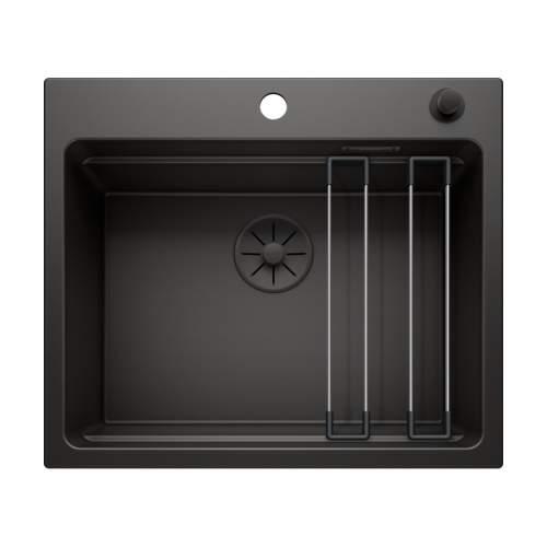 Blanco ETAGON 6 Black Edition Silgranit Inset Kitchen Sink