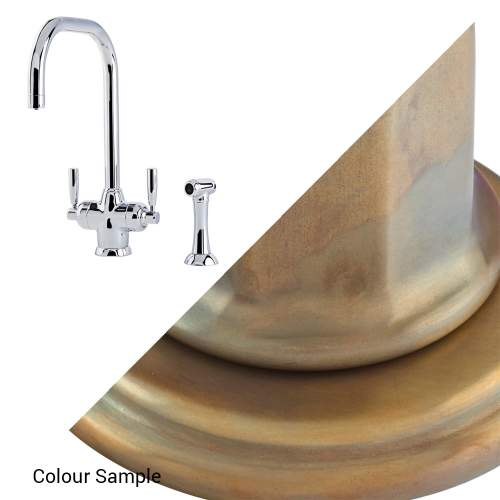 Perrin & Rowe 1545 MIMAS Filtration Mixer Kitchen Tap with Rinse